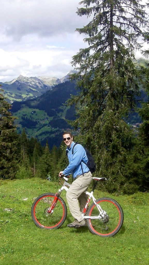 Biking in Murren
