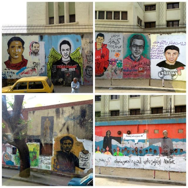Graffiti of those who were lost in the Revolution