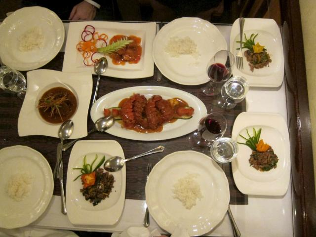 Dinner at Aruns