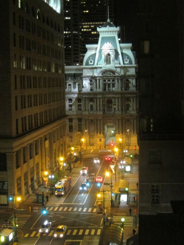 View from our hotel room! City Hall