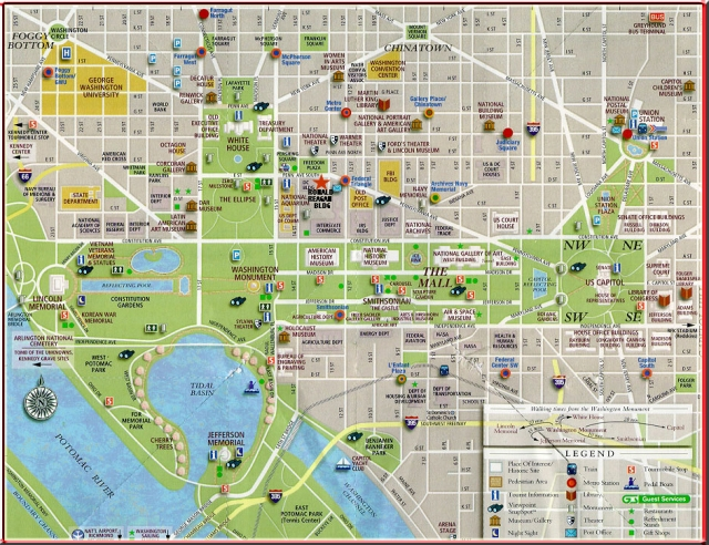 Attractions Map of Washington D.C.