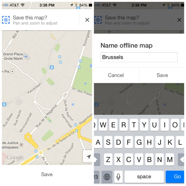Save your Google Maps directly to your phone for future reference!