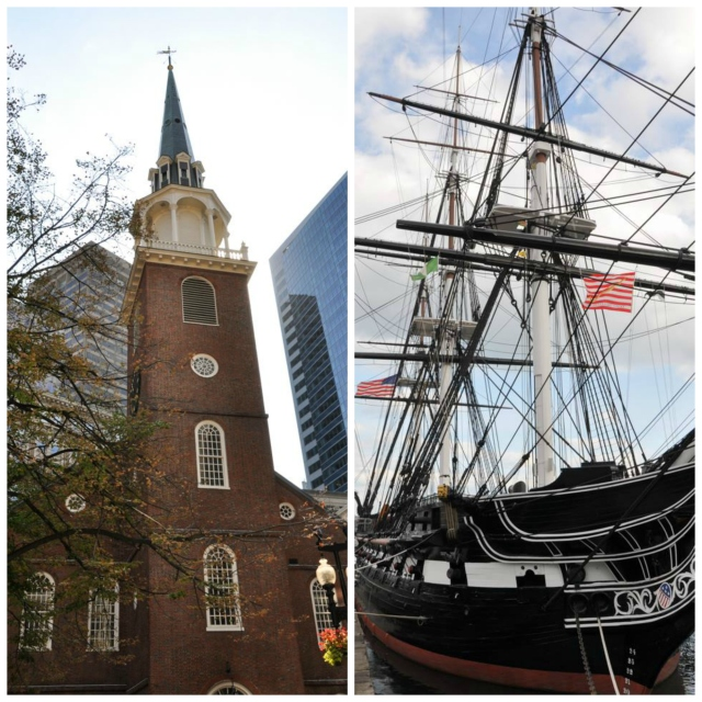 The Old North Church and USS Constitution