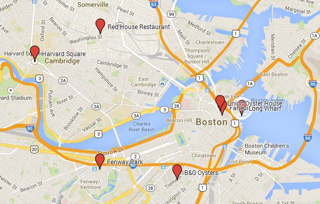 Boston and Cambridge Map
