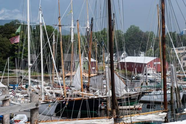The harbor in Camden, ME