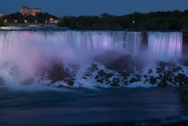 American Falls at night