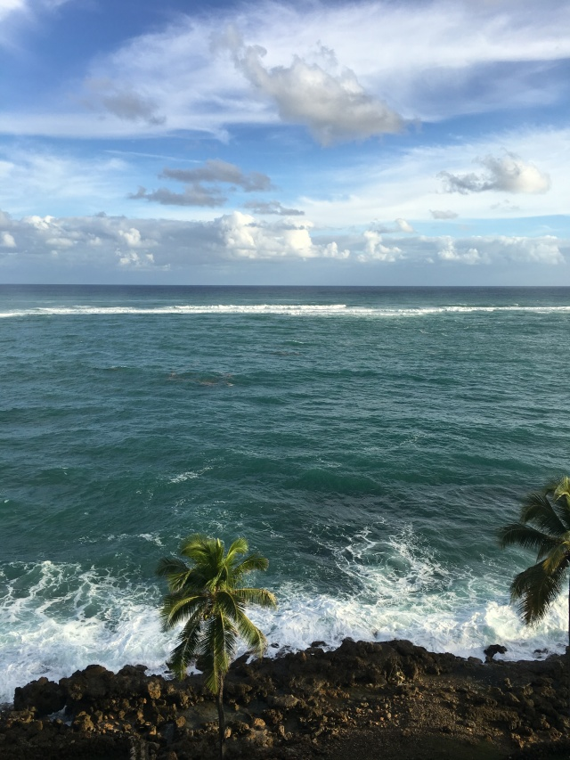 view from my room at the Hilton in Condado