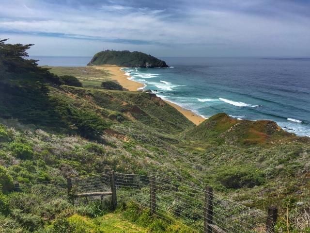Scenic coastline off Route 1
